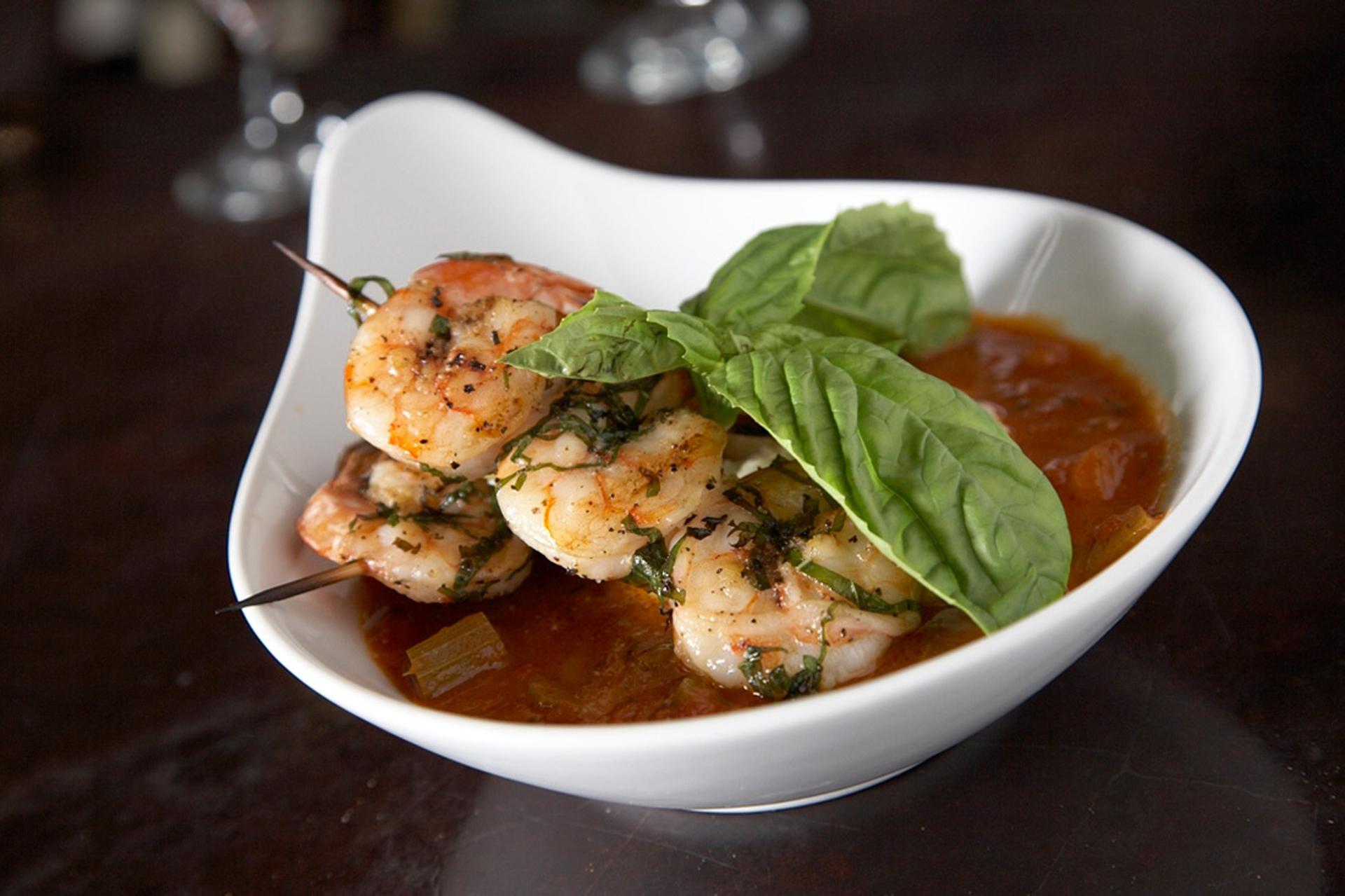Basil Shrimp n Grits